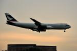 tsubasa0624さんが、成田国際空港で撮影したキャセイパシフィック航空 747-867F/SCDの航空フォト(写真)