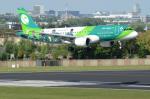 バーバ父さんが、ブリュッセル国際空港で撮影したエア・リンガス A320-214の航空フォト(写真)