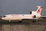 バーバ父さんが、ブリュッセル国際空港で撮影したキルギスタン Tu-154Mの航空フォト(写真)