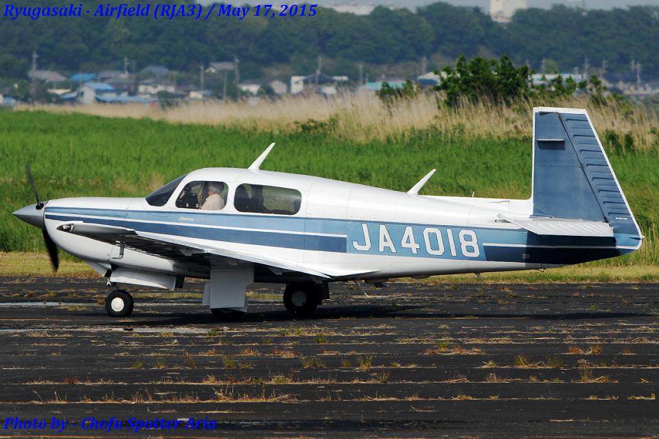 Chofu Spotter Ariaさんの日本個人所有 Mooney M20 (JA4018) 航空フォト