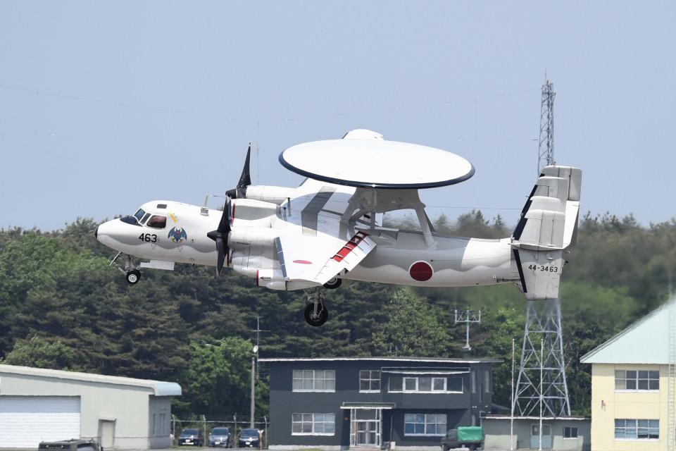 tsubasa0624さんの航空自衛隊 Grumman E-2 Hawkeye (44-3463) 航空フォト