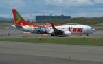 北の熊さんが、新千歳空港で撮影したティーウェイ航空 737-8HXの航空フォト(飛行機 写真・画像)
