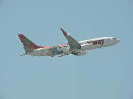 わたくんさんが、福岡空港で撮影したティーウェイ航空 737-8HXの航空フォト(写真)