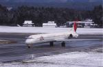 kumagorouさんが、花巻空港で撮影した日本航空 MD-81 (DC-9-81)の航空フォト(写真)