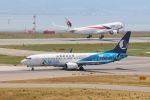 山河 彩さんが、関西国際空港で撮影した山東航空 737-85Nの航空フォト(飛行機 写真・画像)