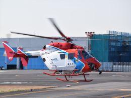 Mizuki24さんが、東京ヘリポートで撮影した日本法人所有 BK117C-1の航空フォト(飛行機 写真・画像)