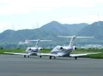 115系白狸さんが、岡南飛行場で撮影したロイヤル化粧品 525A Citation CJ2の航空フォト(写真)