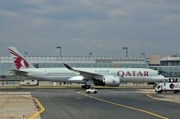 kumariairさんが、フランクフルト国際空港で撮影したカタール航空 A350-941の航空フォト(飛行機 写真・画像)