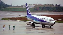 けんじさんが、広島空港で撮影したエアーニッポン 737-281/Advの航空フォト(飛行機 写真・画像)