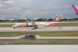 珈琲牛乳さんが、ドンムアン空港で撮影したノックエア DHC-8-402Q Dash 8の航空フォト(飛行機 写真・画像)