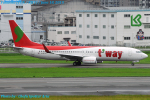 Chofu Spotter Ariaさんが、福岡空港で撮影したティーウェイ航空 737-8Q8の航空フォト(写真)