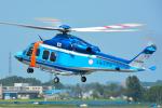 パンダさんが、札幌飛行場で撮影した北海道警察 AW139の航空フォト(写真)