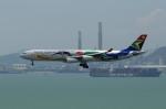 かずまっくすさんが、香港国際空港で撮影した南アフリカ航空 A340-313Xの航空フォト(写真)