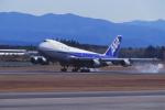 kumagorouさんが、鹿児島空港で撮影した全日空 747SR-81の航空フォト(写真)