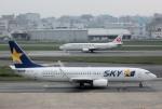 mojioさんが、福岡空港で撮影したスカイマーク 737-82Yの航空フォト(飛行機 写真・画像)