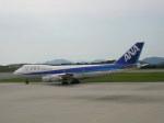 kumagorouさんが、広島空港で撮影した全日空 747SR-81の航空フォト(写真)
