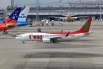 T.Sazenさんが、関西国際空港で撮影したティーウェイ航空 737-8Q8の航空フォト(飛行機 写真・画像)