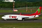 Dojalanaさんが、新千歳空港で撮影したティーウェイ航空 737-8Q8の航空フォト(写真)