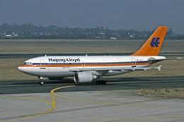 Gambardierさんが、デュッセルドルフ国際空港で撮影したハパック ロイド フルーク A310-304の航空フォト(飛行機 写真・画像)