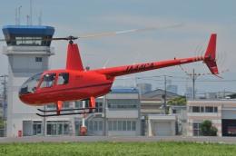 IL-18さんが、東京ヘリポートで撮影した日本個人所有 R44 IIの航空フォト(飛行機 写真・画像)