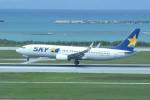 tsubasa0624さんが、那覇空港で撮影したスカイマーク 737-8FZの航空フォト(写真)