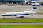 Chofu Spotter Ariaさんが、羽田空港で撮影したヒューレット・パッカード G-V Gulfstream Vの航空フォト(飛行機 写真・画像)