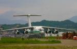 えんどうまめさんが、福岡空港で撮影したアルジェリア空軍 Il-76TDの航空フォト(写真)