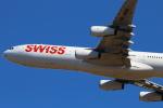 ちょっぱさんが、成田国際空港で撮影したスイスインターナショナルエアラインズ A340-313の航空フォト(写真)