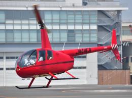 チャーリーマイクさんが、東京ヘリポートで撮影した日本個人所有 R44 IIの航空フォト(飛行機 写真・画像)