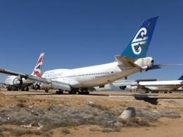 ZONOさんが、サザンカリフォルニアロジステクス空港で撮影したニュージーランド航空 747-475の航空フォト(飛行機 写真・画像)