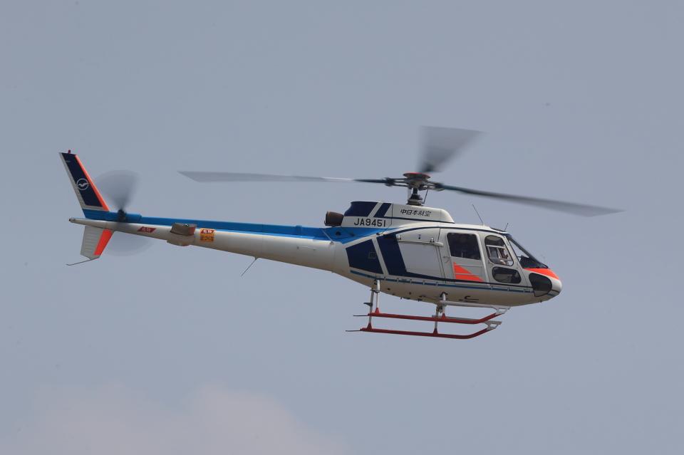 T.Sazenさんの中日本航空 Aerospatiale AS350 Ecureuil/AStar (JA9451) 航空フォト
