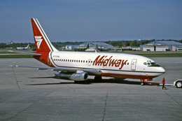 Gambardierさんが、ミネアポリス・セントポール国際空港で撮影したミッドウェイ・エアラインズ 737-2K9/Advの航空フォト(飛行機 写真・画像)