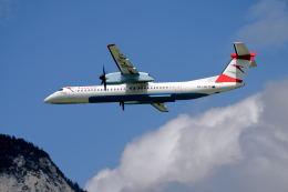 gomaさんが、インスブルック・クラネビッテン空港で撮影したオーストリア航空 DHC-8-402Q Dash 8の航空フォト(飛行機 写真・画像)