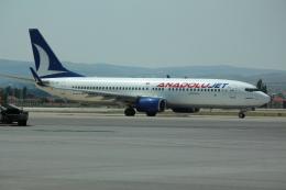 TC-JNP@tkさんが、エセンボーア国際空港で撮影したアナドルジェット 737-86Nの航空フォト(飛行機 写真・画像)