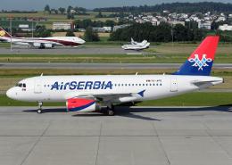 Bokuranさんが、チューリッヒ空港で撮影したエア・セルビア A319-132の航空フォト(飛行機 写真・画像)