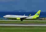じーく。さんが、那覇空港で撮影したジンエアー 737-86Nの航空フォト(写真)