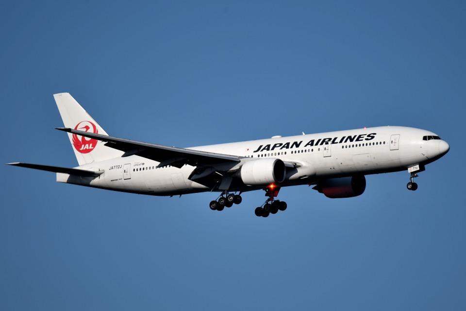 tsubasa0624さんの日本航空 Boeing 777-200 (JA772J) 航空フォト