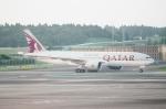 ハピネスさんが、成田国際空港で撮影したカタール航空 777-2DZ/LRの航空フォト(飛行機 写真・画像)