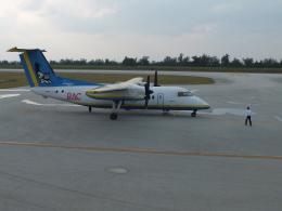 ピーノックさんが、南大東空港で撮影した琉球エアーコミューター DHC-8-103Q Dash 8の航空フォト(飛行機 写真・画像)