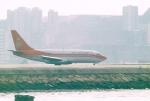JA8037さんが、啓徳空港で撮影した香港ドラゴン航空 737-2L9/Advの航空フォト(写真)