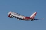 かずまっくすさんが、サンフランシスコ国際空港で撮影したヴァージン・アトランティック航空 747-4Q8の航空フォト(写真)
