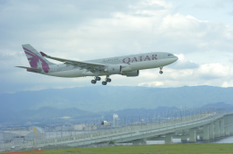 fukucyanさんが、関西国際空港で撮影したカタール航空 A330-202の航空フォト(飛行機 写真・画像)