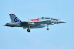 うめやしきさんが、厚木飛行場で撮影したアメリカ海軍 F/A-18F Super Hornetの航空フォト(写真)
