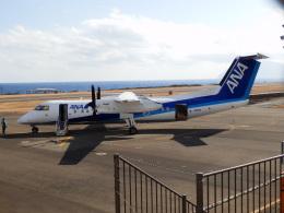 TUILANYAKSUさんが、三宅島空港で撮影したANAウイングス DHC-8-314Q Dash 8の航空フォト(飛行機 写真・画像)