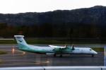 kamerajiijiさんが、ベルゲン空港で撮影したヴィデロー航空 DHC-8-402Q Dash 8の航空フォト(写真)