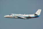 パンダさんが、羽田空港で撮影した朝日新聞社 560 Citation Encoreの航空フォト(写真)