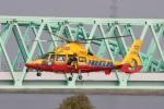 ショウさんが、三重県 桑名市 長島運動公園 で撮影した滋賀県防災航空隊 AS365N3 Dauphin 2の航空フォト(写真)