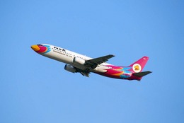 まいけるさんが、スワンナプーム国際空港で撮影したノックエア 737-4Q8の航空フォト(飛行機 写真・画像)
