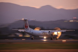 鹿児島のぽりっす♪さんが、鹿児島空港で撮影した日本エアコミューター DHC-8-402Q Dash 8の航空フォト(飛行機 写真・画像)