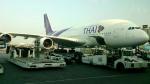 tsubasa0624さんが、スワンナプーム国際空港で撮影したタイ国際航空 A380-841の航空フォト(飛行機 写真・画像)